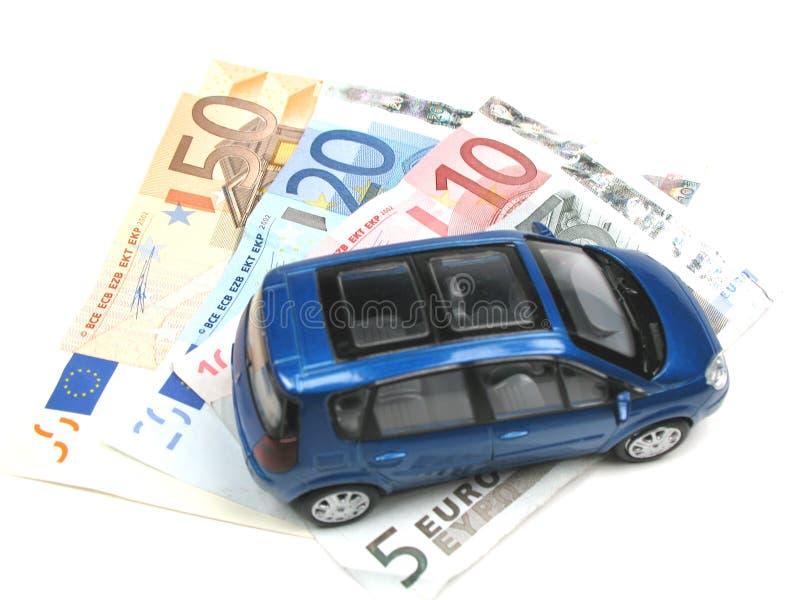samochód zaparkowany pieniądze obrazy stock