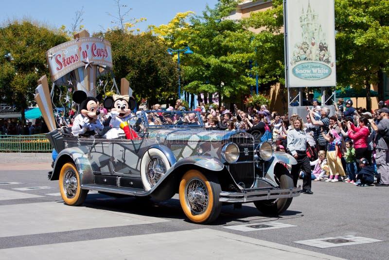samochodów Disney n parady gwiazdy obraz stock