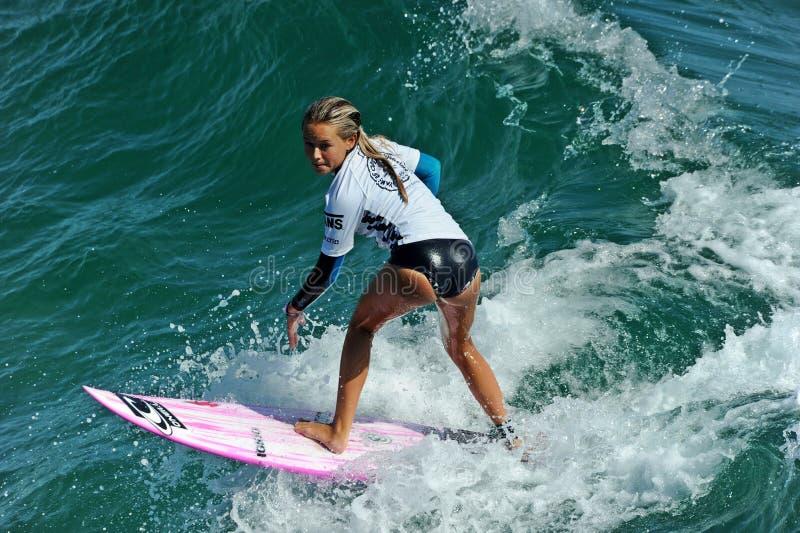 Samochodów dostawczych us open surfing, huntington beach, 2019 obraz royalty free