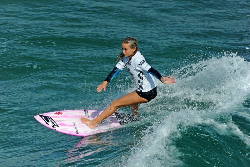 Samochodów dostawczych us open surfing, huntington beach, 2019 zdjęcie royalty free