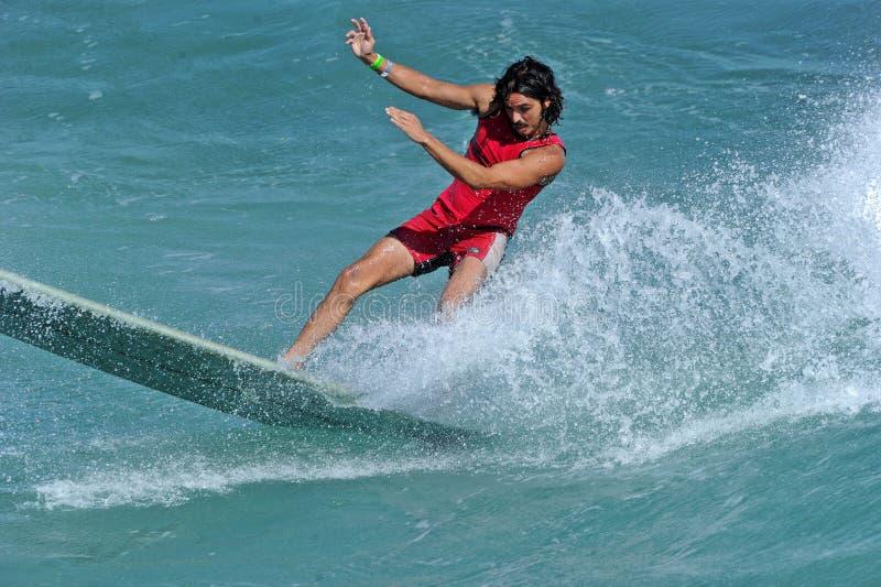 Samochodów dostawczych us open surfing, huntington beach, 2019 obraz stock