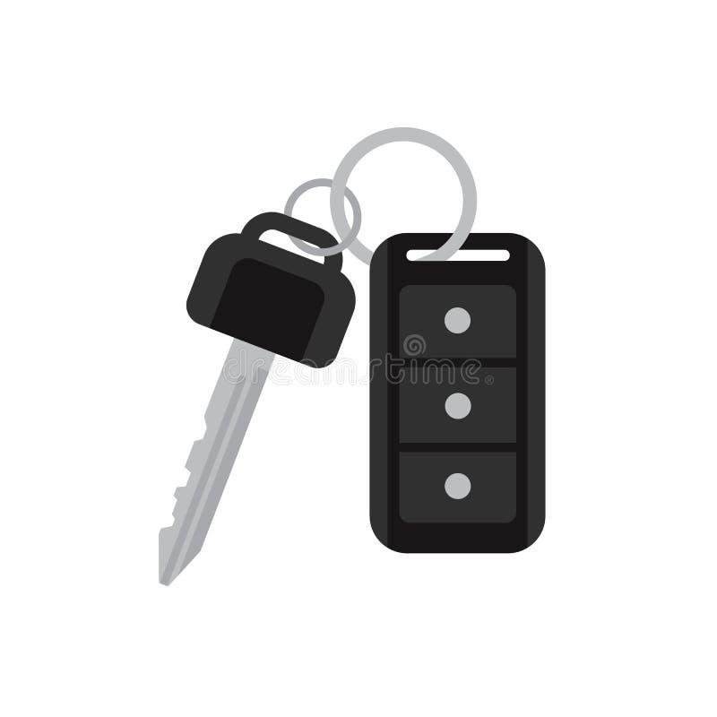 Samochodów klucze z daleką wektorową ilustracją ilustracji