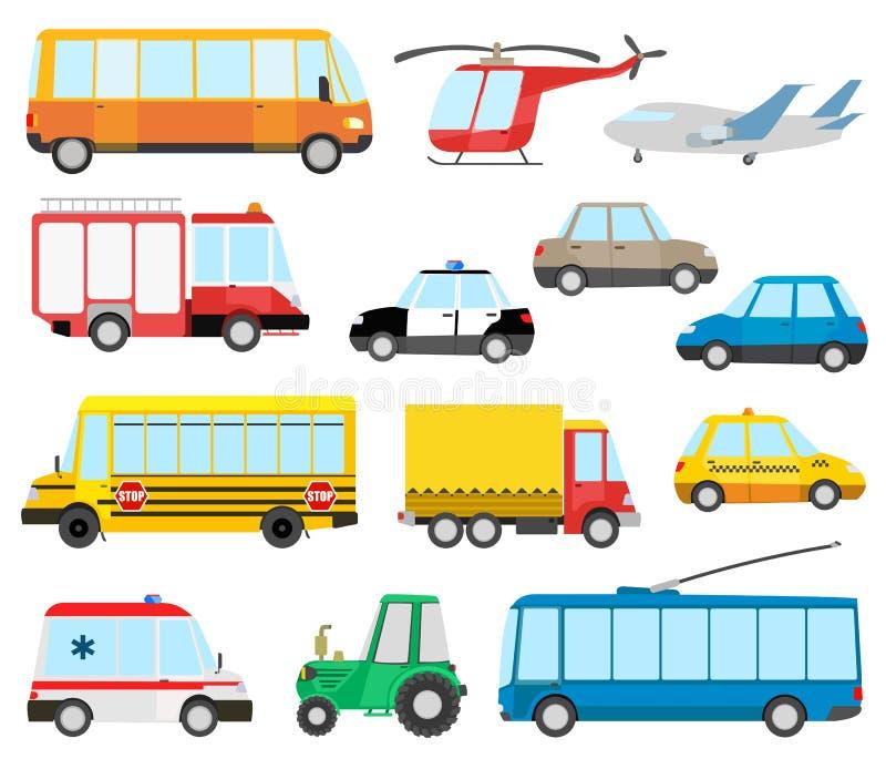 samochodów kreskówka barwiący wielo- zabawek transport ilustracja wektor