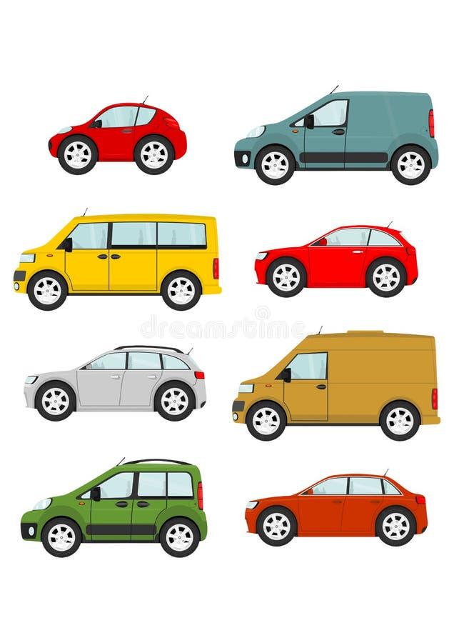 samochodów kreskówki ilustracyjny setu wektor ilustracja wektor