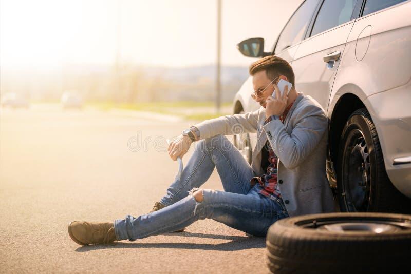 Samochodowa awaria fotografia royalty free