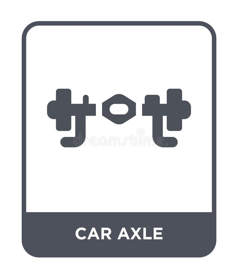 samochodowa axle ikona w modnym projekta stylu samochodowa axle ikona odizolowywająca na białym tle samochodowego axle wektorowej royalty ilustracja