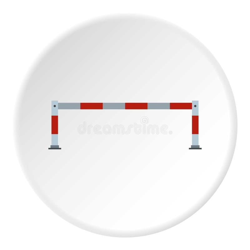Samochodowa bariery ikona, mieszkanie styl ilustracja wektor
