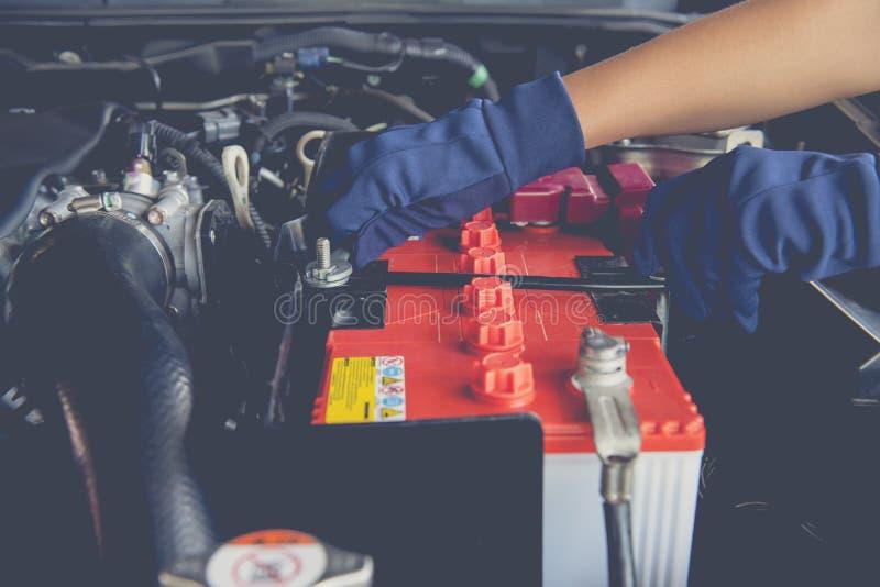 Samochodowa bateria zdjęcia stock