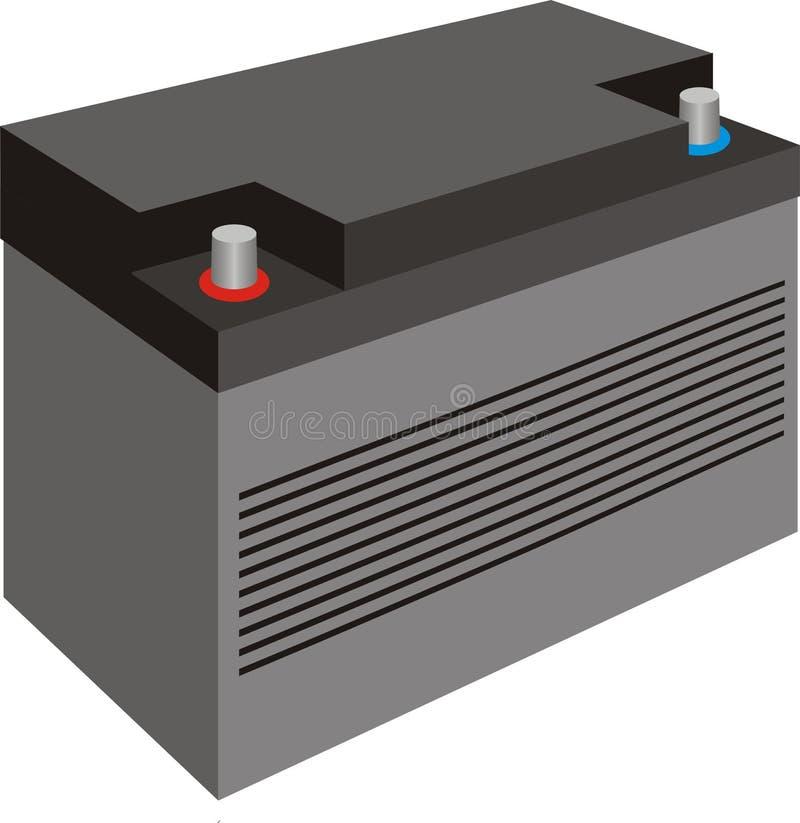 Samochodowa bateria z pokrywą ilustracji