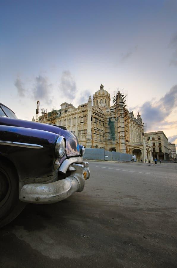 samochodowa Cuba Havana pałac rewolucja fotografia royalty free