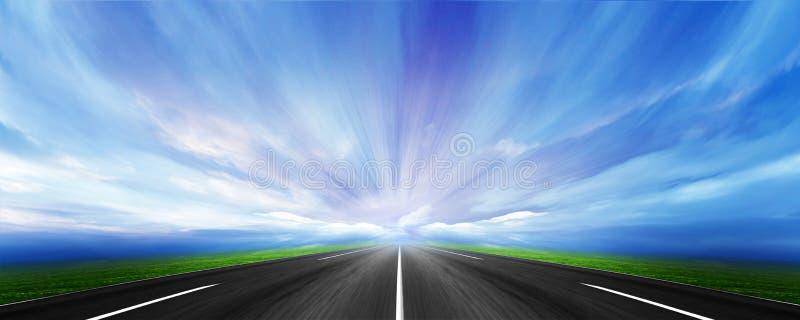 samochodowa droga ilustracji
