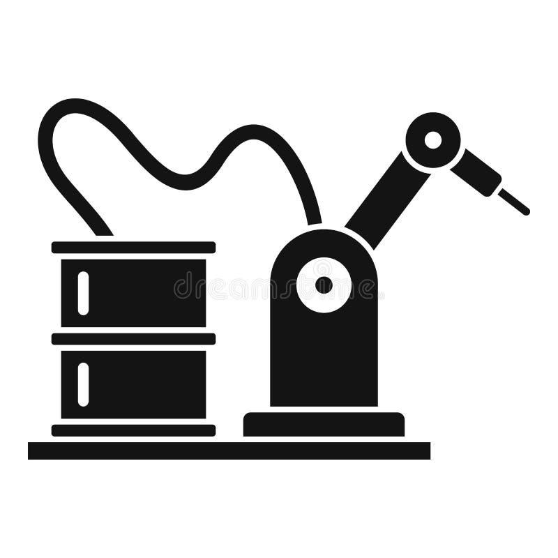 Samochodowa fabryczna robot ikona, prosty styl ilustracji