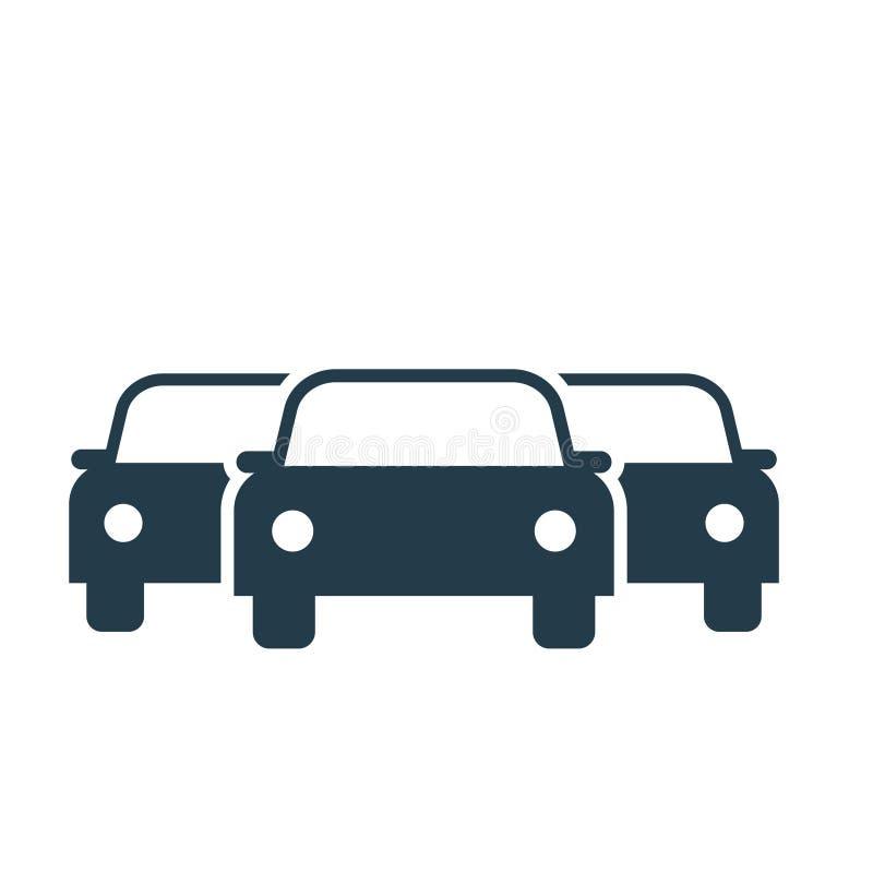 Samochodowa floty ikona royalty ilustracja