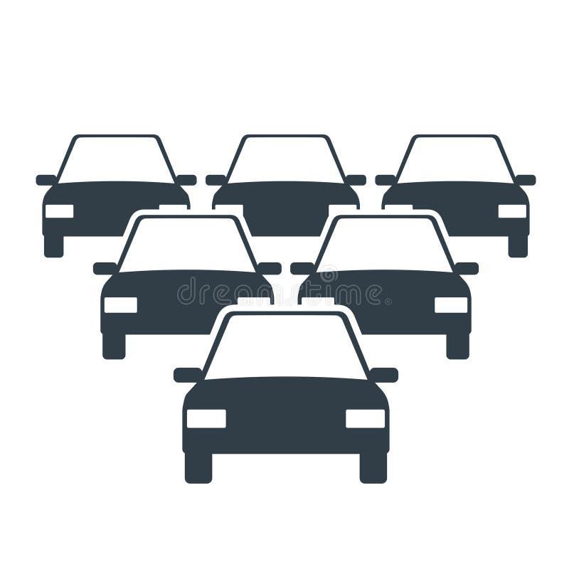 Samochodowa floty ikona ilustracji