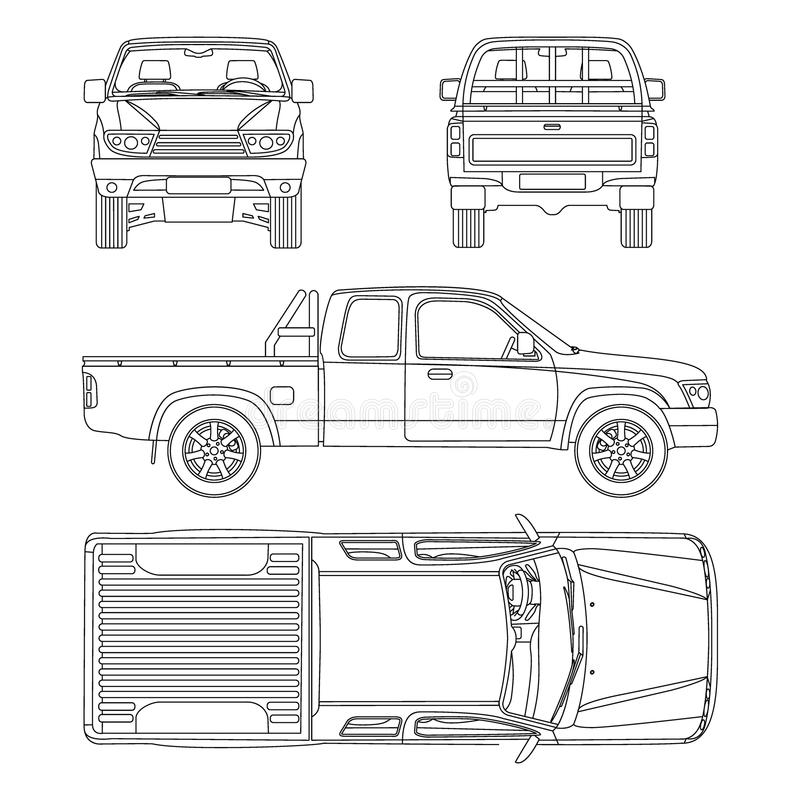 Samochodowa furgonetka wektoru ilustracja royalty ilustracja