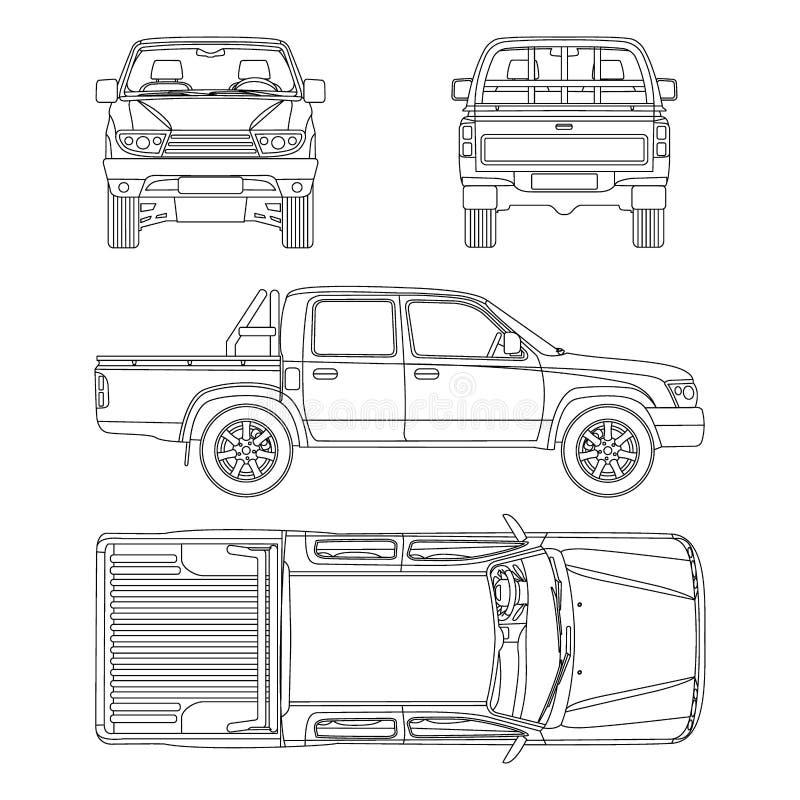 Samochodowa furgonetka wektoru ilustracja ilustracji
