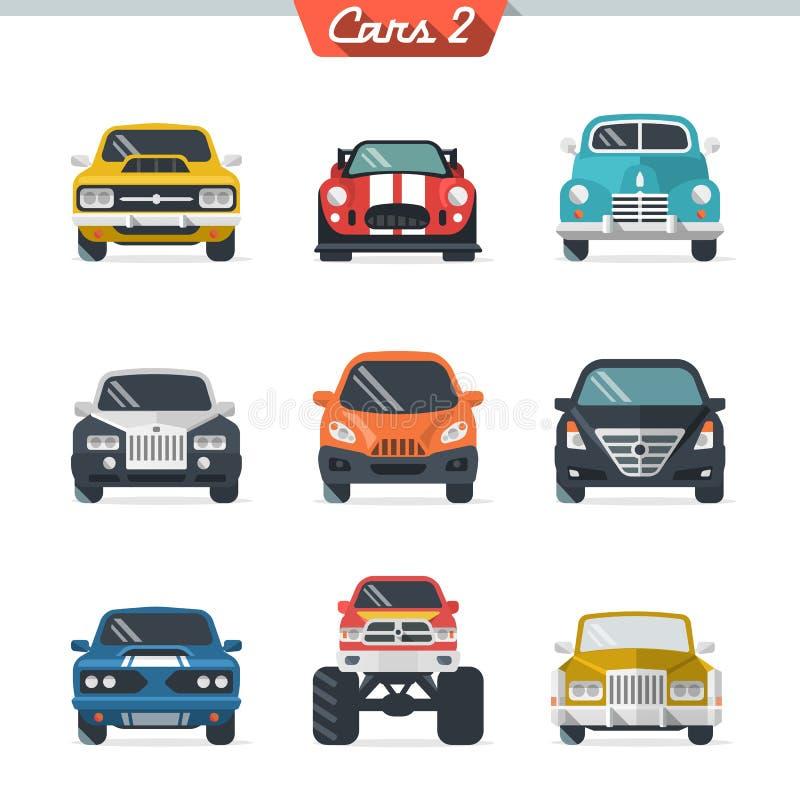 Samochodowa ikona ustawia 2 ilustracji