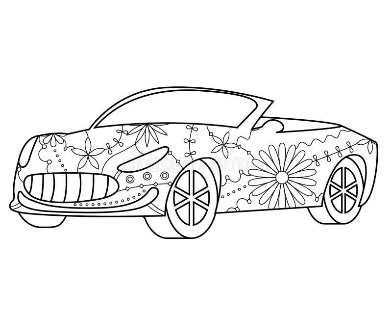 Samochodowa kabriolet kolorystyka ilustracji