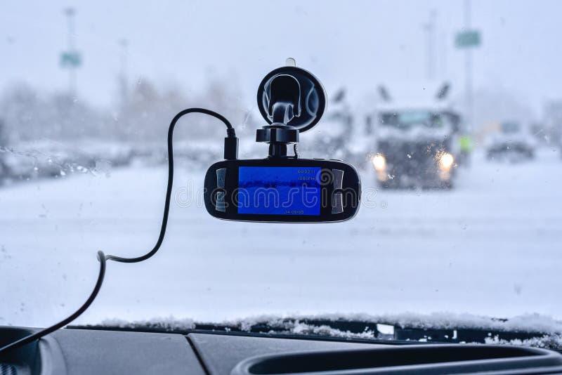 Samochodowa kamera dla bezpieczeństwa obraz stock