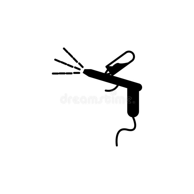 Samochodowa kiści pistoletu ikona royalty ilustracja