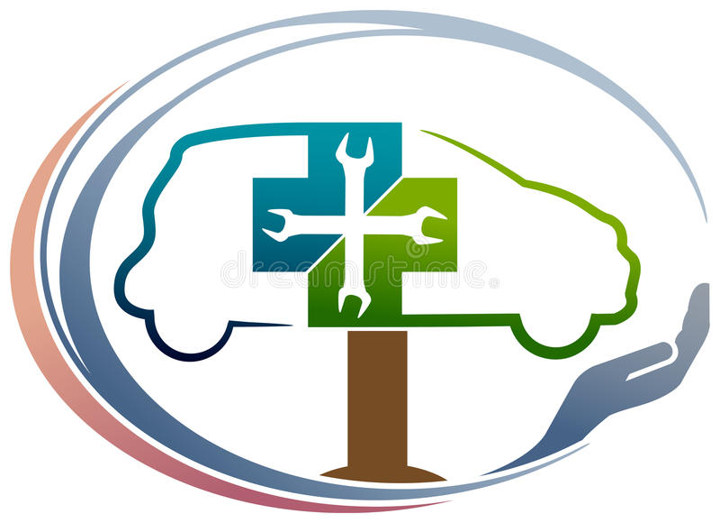 Samochodowa klinika ilustracja wektor