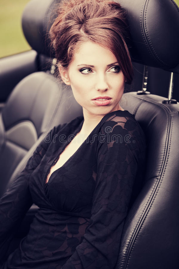 samochodowa kobieta obrazy stock