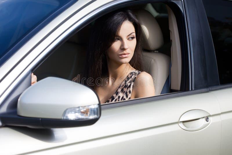 samochodowa kobieta zdjęcie royalty free