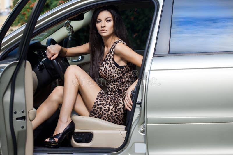 samochodowa kobieta fotografia stock
