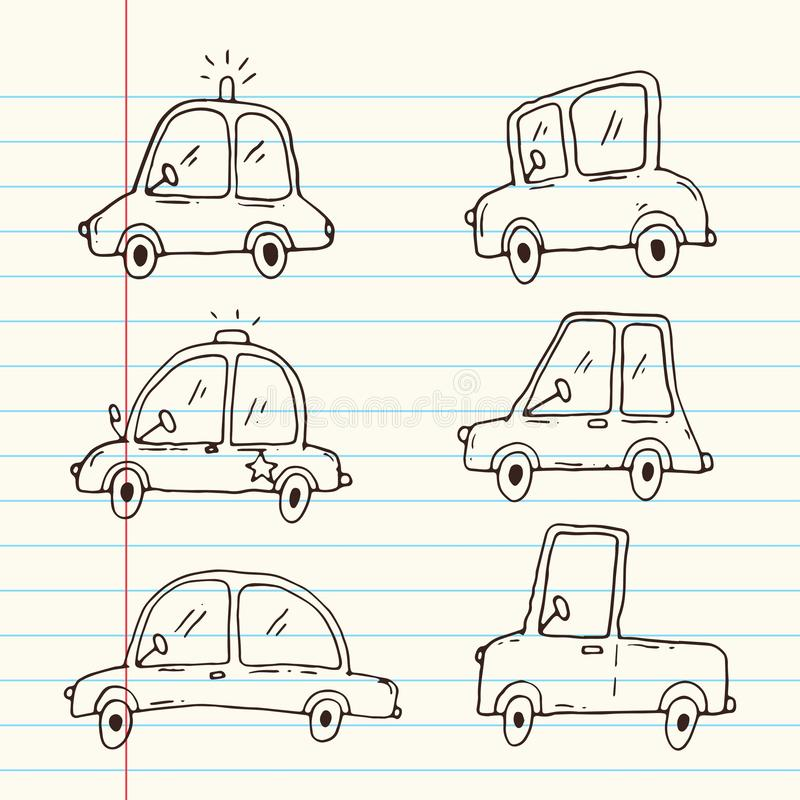 Samochodowa kresk?wki kolekcja royalty ilustracja