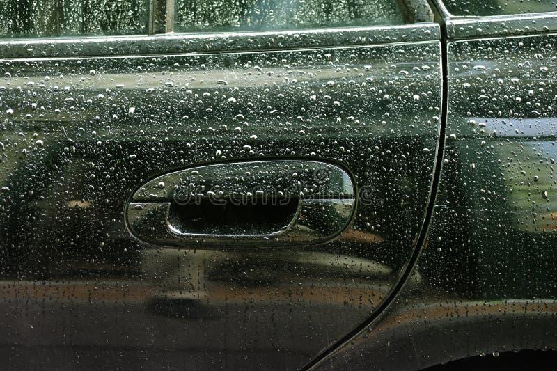 samochodowa kropel lateral strony woda zdjęcie royalty free