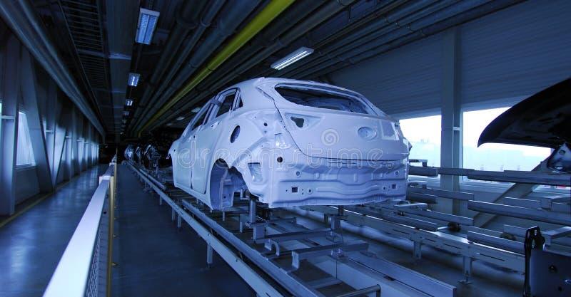 Samochodowa linia produkcyjna zdjęcia royalty free