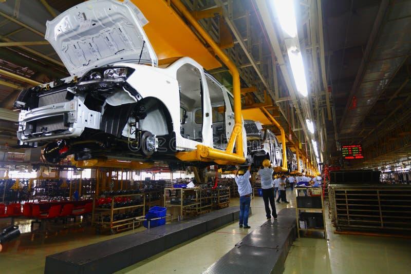 Samochodowa linia produkcyjna fotografia stock