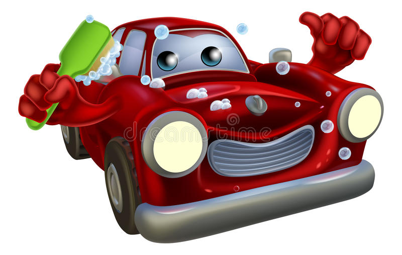 Samochodowa lokaj kreskówka royalty ilustracja