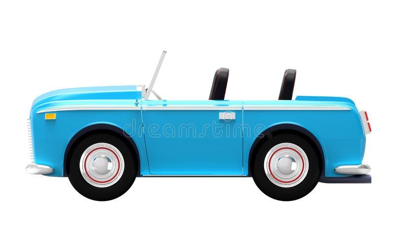 Samochodowa luksusowa kabrioletu błękita strona royalty ilustracja
