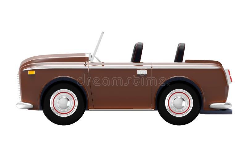 Samochodowa luksusowa kabrioletu brązu strona royalty ilustracja