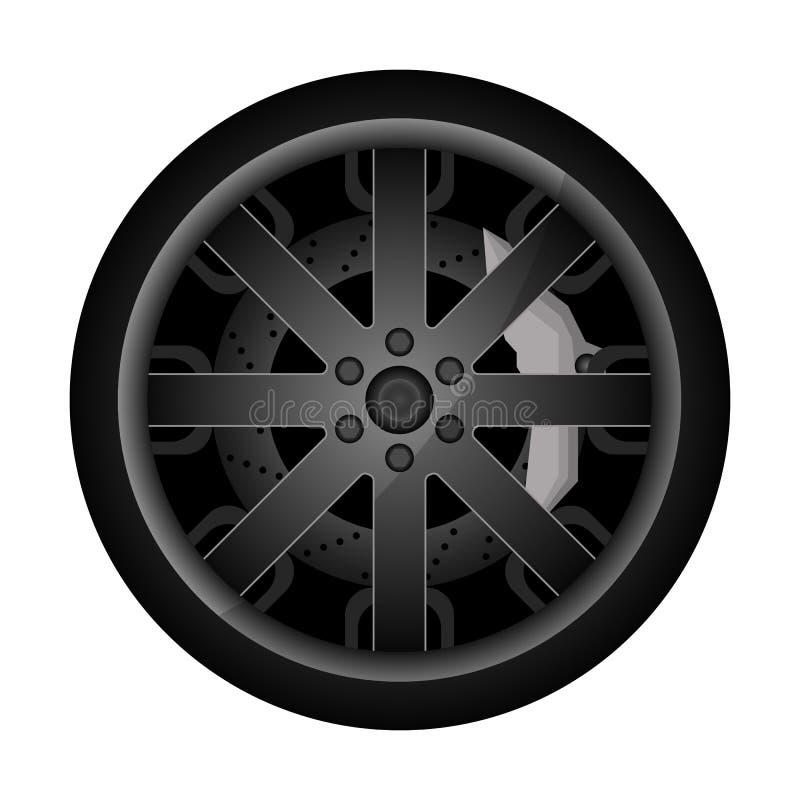 Samochodowa metalu obręcza ikona royalty ilustracja