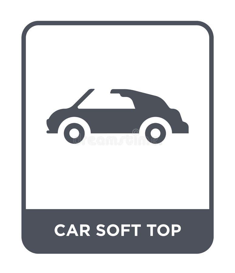 samochodowa miękka część wierzchołka ikona w modnym projekta stylu samochodowa miękka część wierzchołka ikona odizolowywająca na  ilustracji