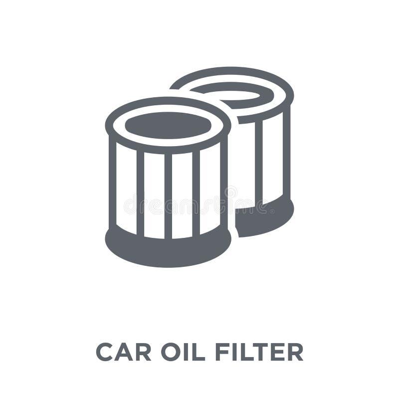 samochodowa nafcianego filtra ikona od samochodu rozdziela kolekcję royalty ilustracja