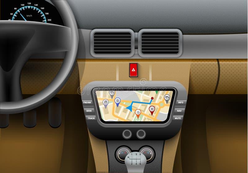 Samochodowa nawigacja Syster ilustracji