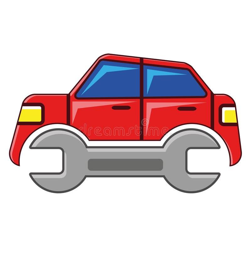 samochodowa opieka royalty ilustracja