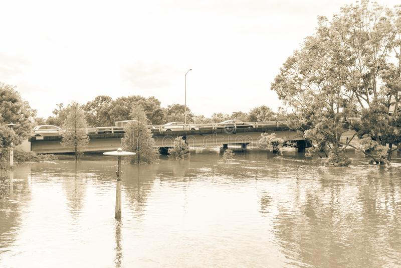 Samochodowa pluśnięcie powódź obraz royalty free