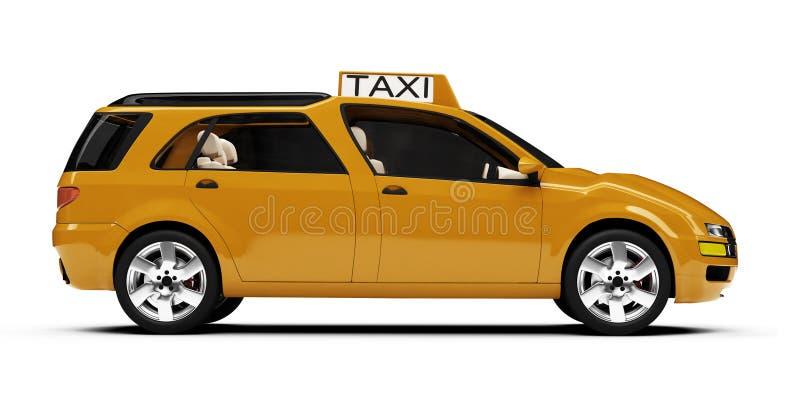 samochodowa pojęcia przyszłość odizolowywający taxi widok royalty ilustracja