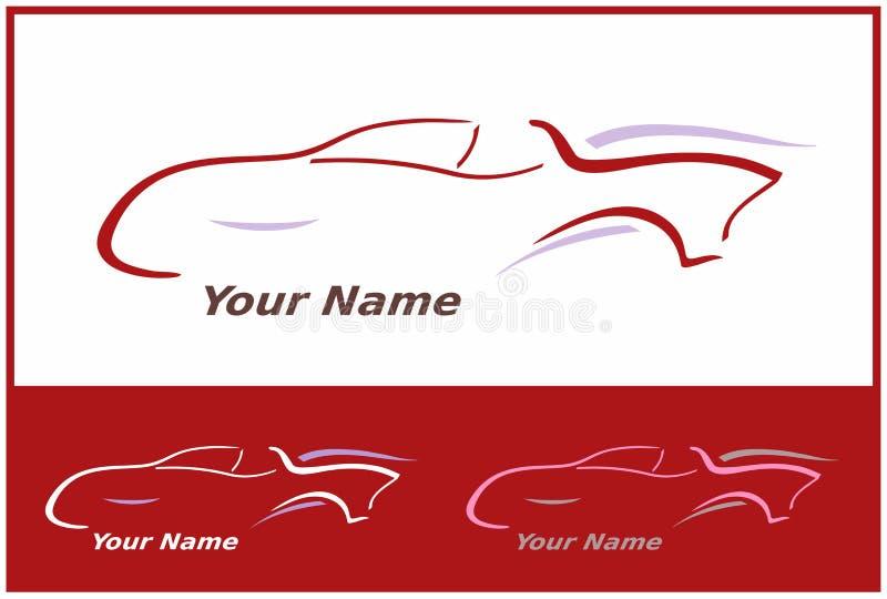 samochodowa projekta ikony loga czerwień royalty ilustracja
