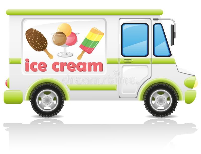 Samochodowa przewożenia lody wektoru ilustracja ilustracji