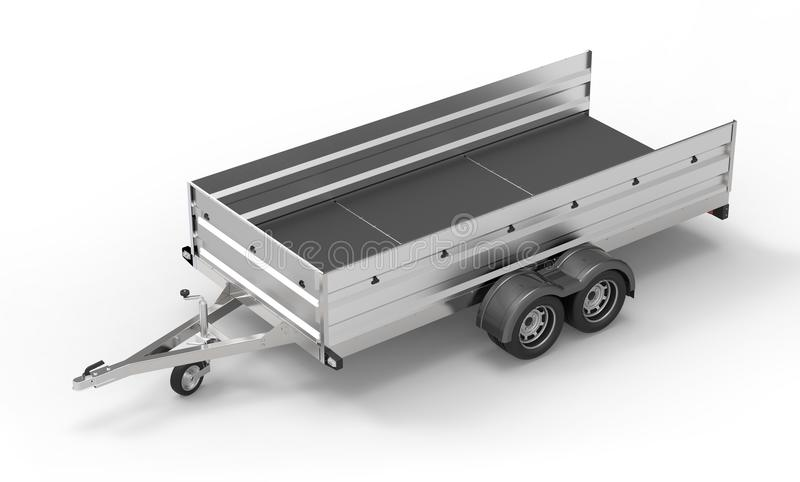 Download Samochodowa Przyczepa Odizolowywająca Na Bielu Ilustracji - Ilustracja złożonej z wyposażenie, koło: 53791871