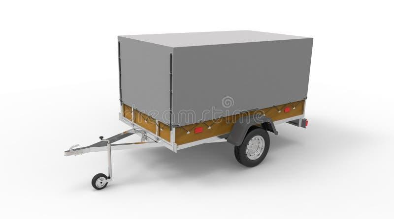 Download Samochodowa Przyczepa Odizolowywająca Na Bielu Ilustracji - Ilustracja złożonej z podróż, ciężarówka: 53791940