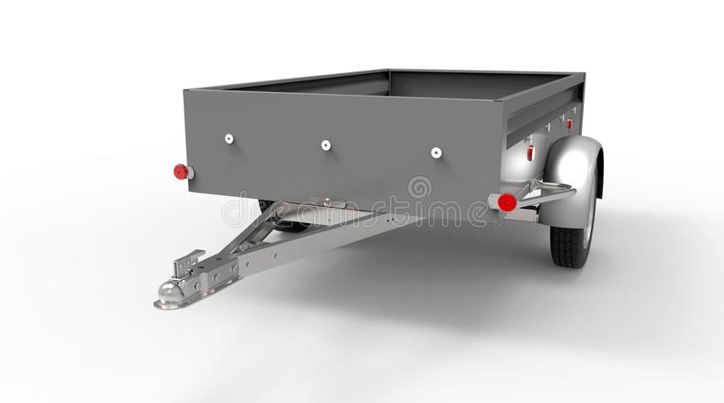 Download Samochodowa Przyczepa Odizolowywająca Na Bielu Ilustracji - Ilustracja złożonej z przyczepa, ciężarówka: 53792074