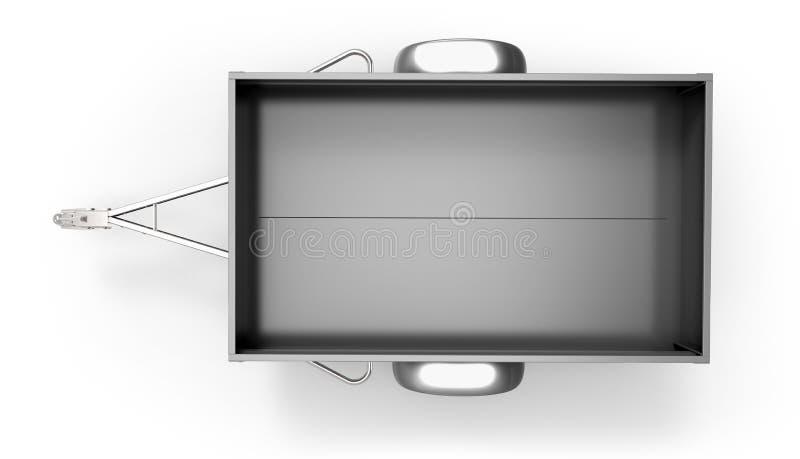 Download Samochodowa Przyczepa Odizolowywająca Na Bielu Ilustracji - Ilustracja złożonej z ładunek, fura: 53792138