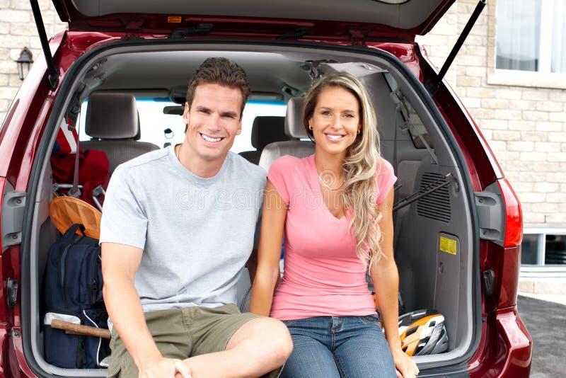 samochodowa rodzina zdjęcia stock
