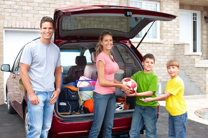 samochodowa rodzina zdjęcie royalty free